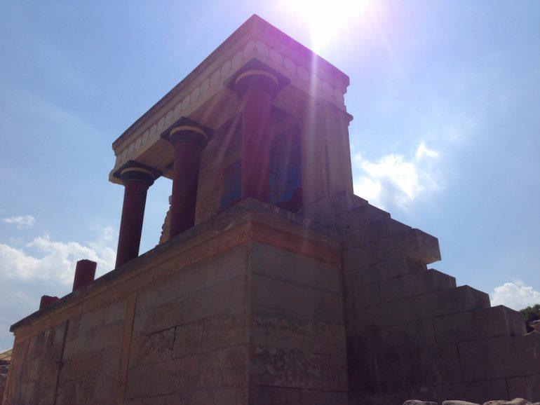 Kreta Sehenswürdigkeiten: Restaurierte Ruine in Knossos