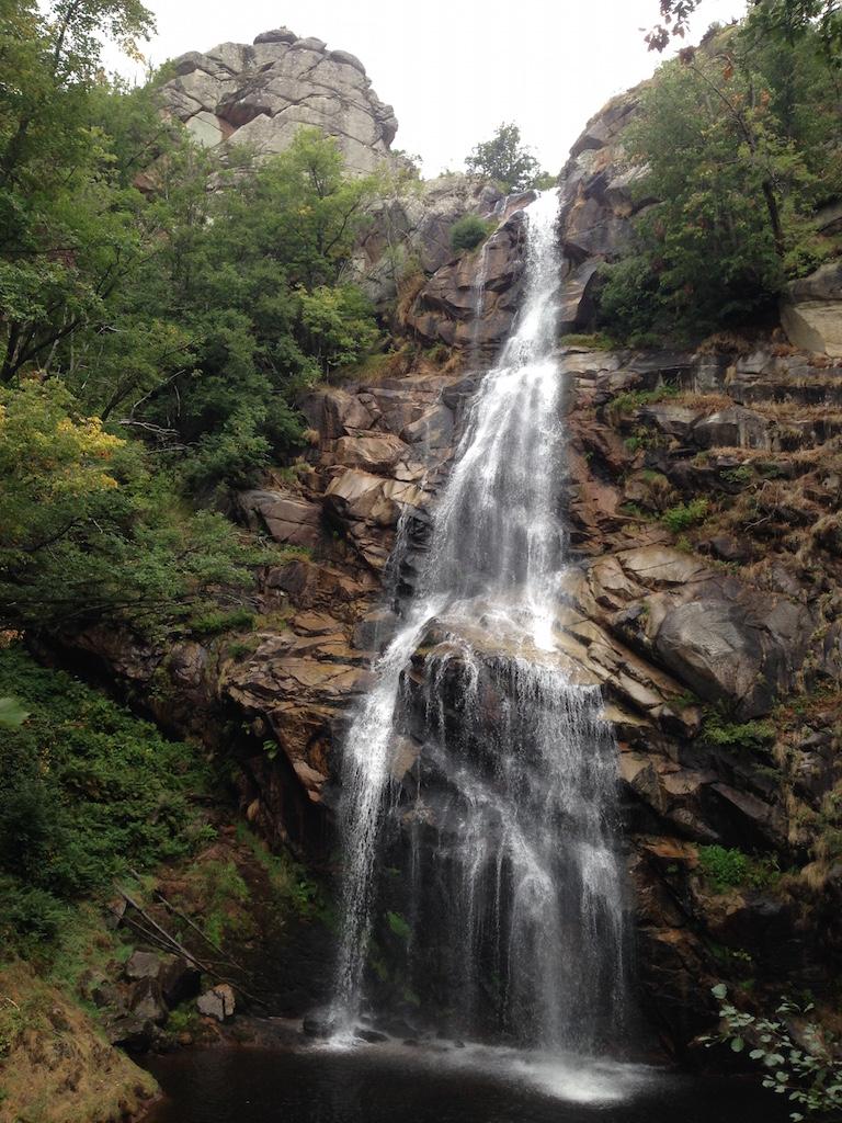 Wasserfall in der Lozère: Cascade de Runes