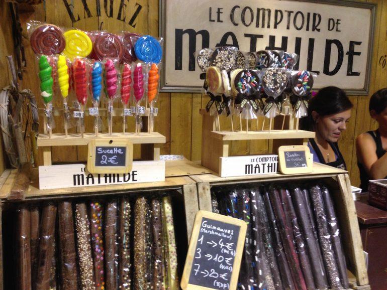 Süßigkeiten im Comptoir de Mathilde in Lyon