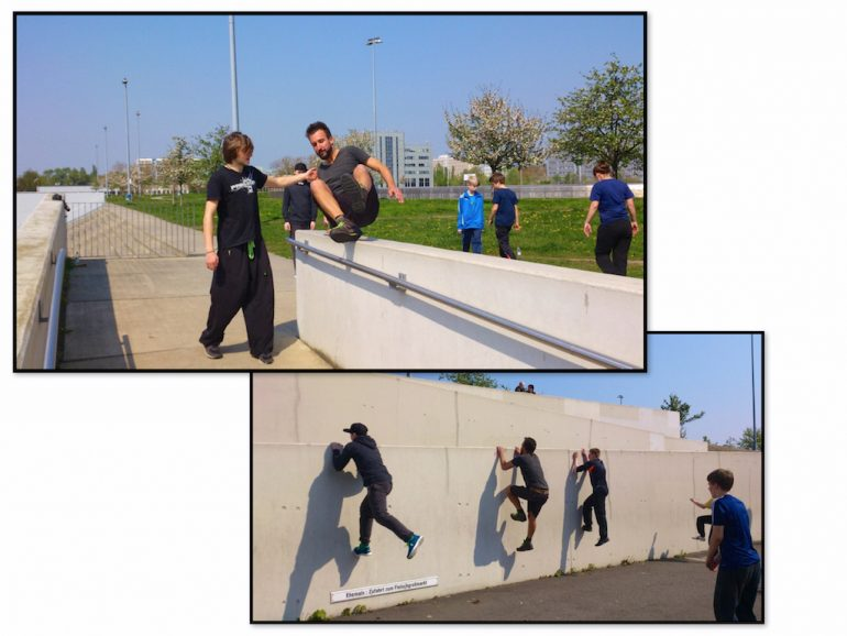 Things to do in Berlin: Marco Buch during Parkour training