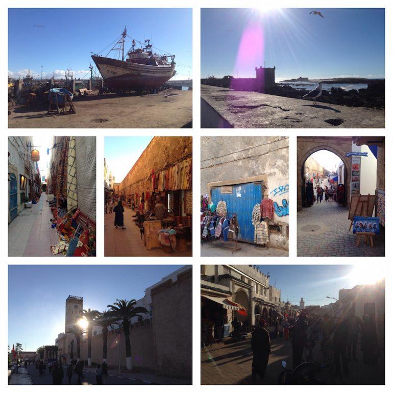 Hafen und Gassen in Essaouira