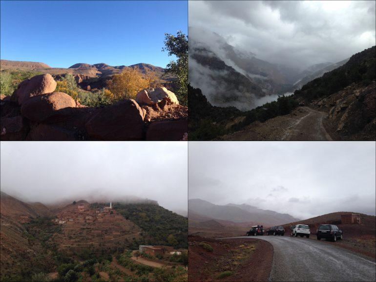 Felsen und Dörfer im Hohen Atlas