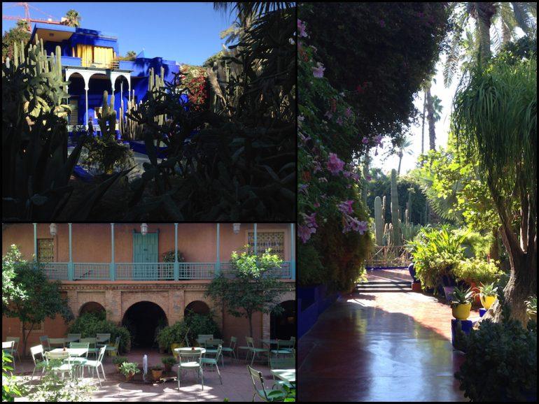 Die Gebäude des Jardin Majorelle zählen zu den Marokko Sehenswürdigkeiten