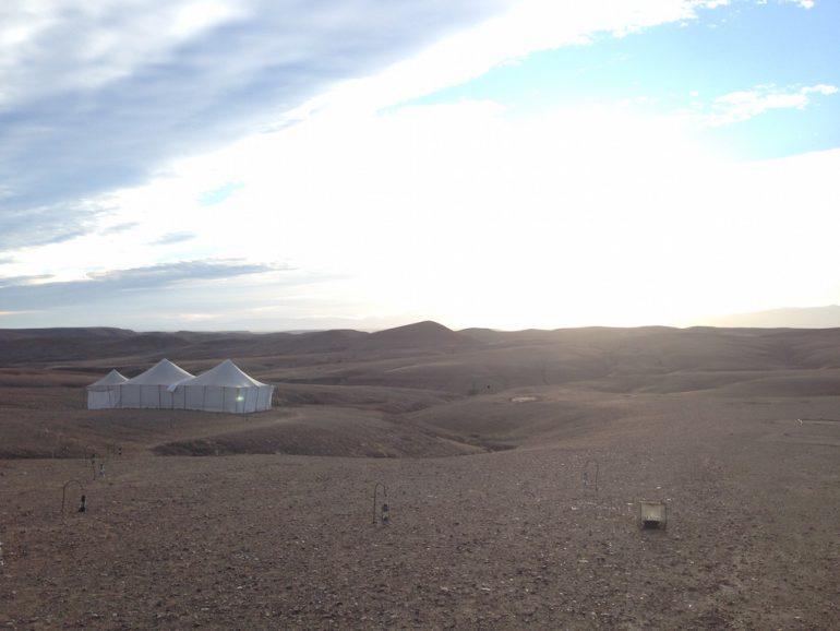 Marokko Sehenswürdigkeiten: Zelte im Scarabeo Camp, Agafay Desert 3