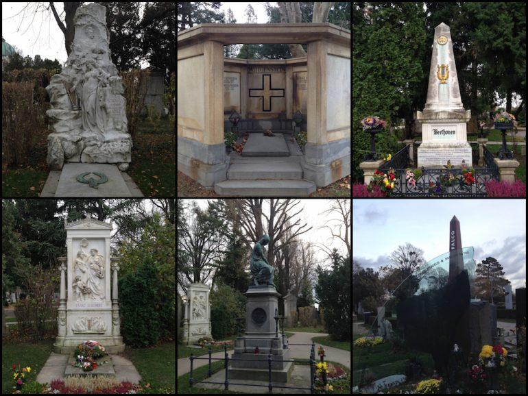 Schönste Friedhöfe: Strauss, Wittgenstein, Beethoven, Schubert, Mozart, Falco