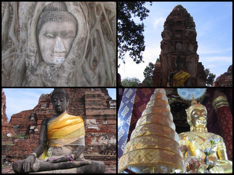 Thailand Highlights: Buddhakopf und Tempel in Ayutthaya