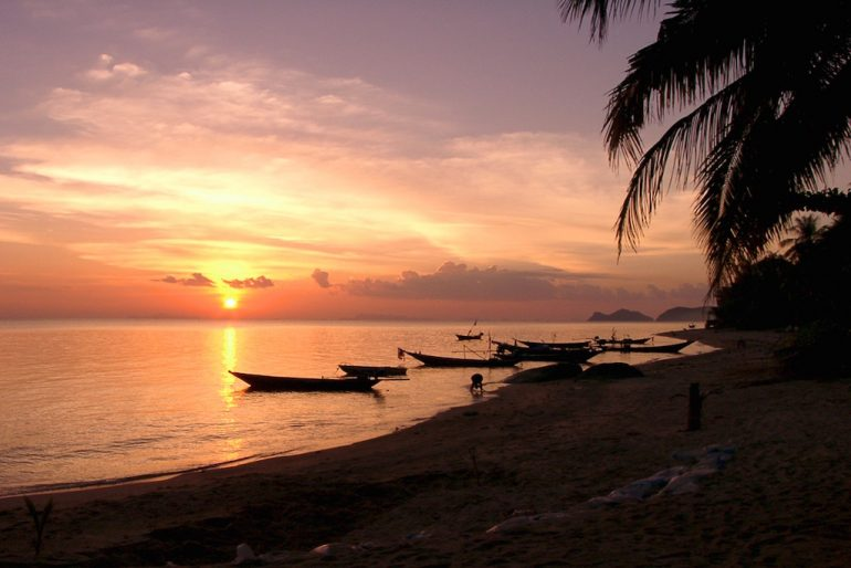 Thailand Highlights: Sonnenuntergang in Ban Tai, Ko Phangan