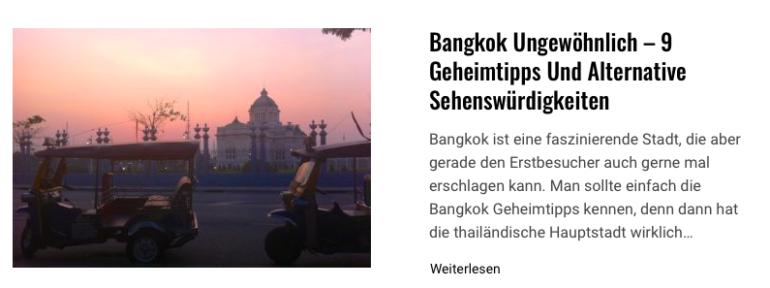 Bangkok ungewöhnlich