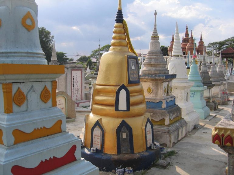 Thailand Highlights: Chinesischer Friedhof, Kanchanaburi