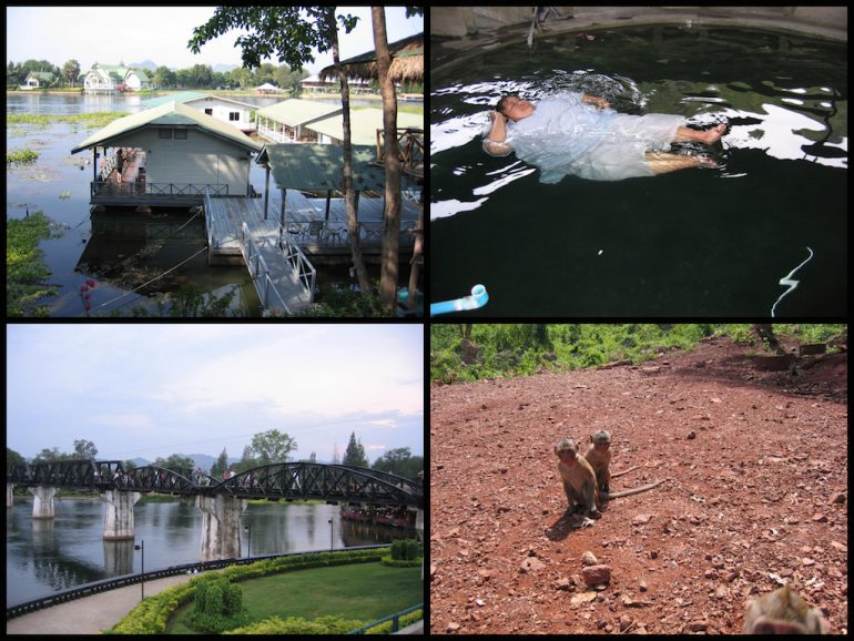Thailand Highlights: Brücke, Hütte, Affe und Floating Nun in Kanchanaburi