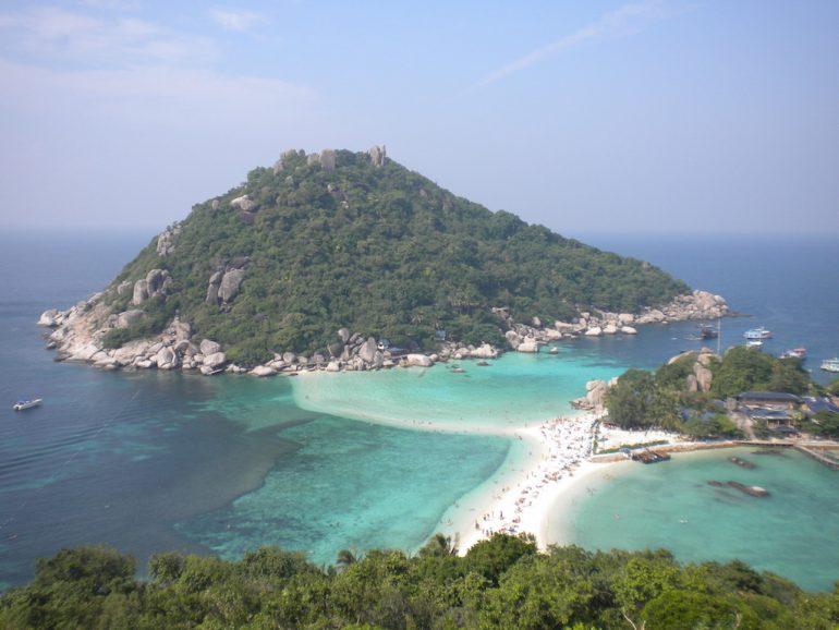 Thailand Highlights: Blick auf Koh Nang Yuan