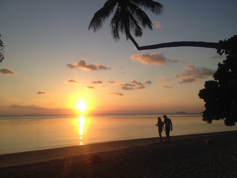 Thailand Highlights: Sonnenuntergang am Leela Beach, Ko Phangan