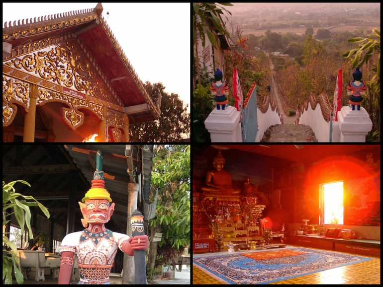 Thailand Highlights Tempel auf dem Hügel in Pai
