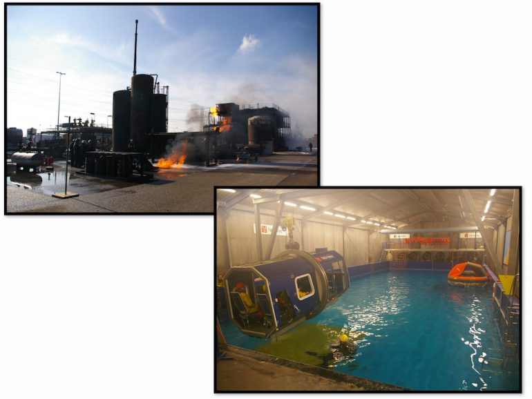 Feuer-Simulation und Trainingspool im Europoort