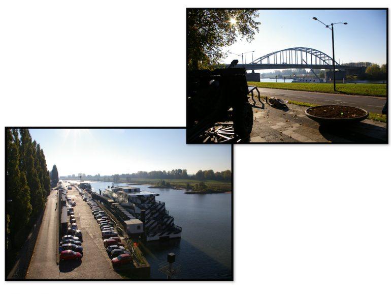 Urlaub am Rhein Brücken und Fluss in Arnhem und Nijmegen
