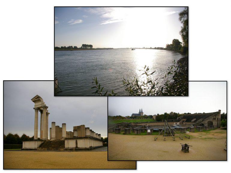 Rhein und Monumente in Xanten