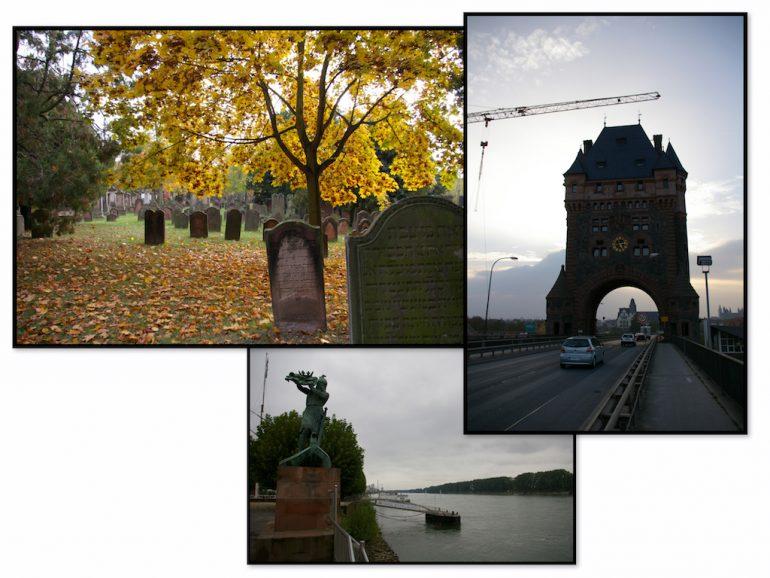 Friedhof und Brücke in Worms