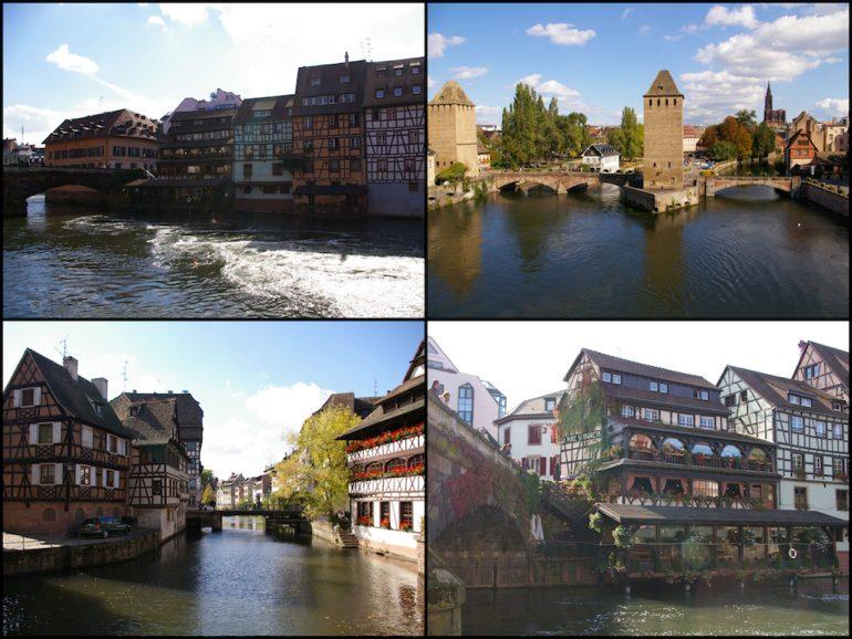 Urlaub am Rhein: Häuser und Monumente in Strasbourg