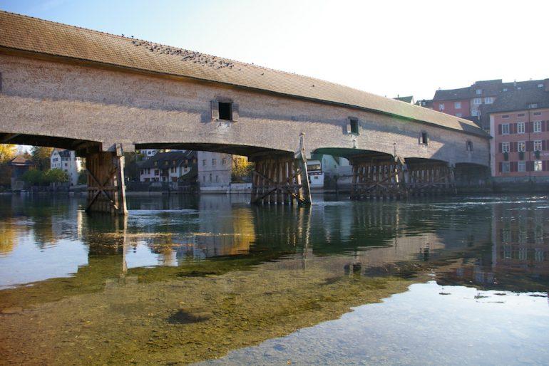 Rhein und Rheinbrücke Diessenhofen
