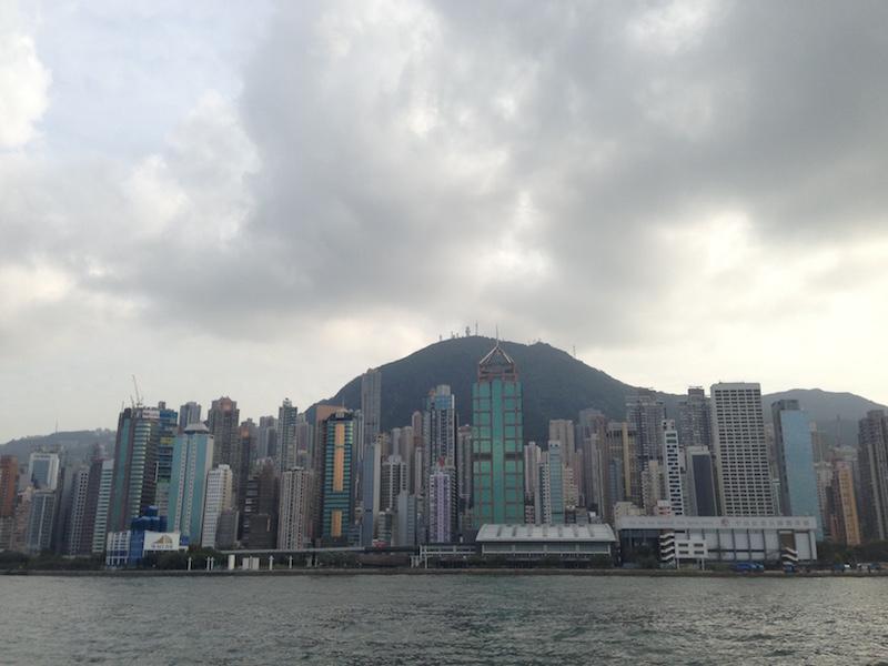 Blick auf Hong Kong von der Star Ferry