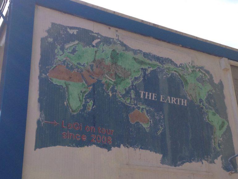 Landkarte mit eingezeichneten Ländern