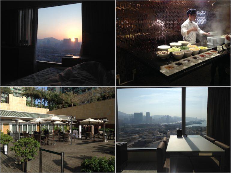 Hong Kong Sehenswürdigkeiten: Küche, Pool und Ausblick im Harbour Plaza 8 Degrees