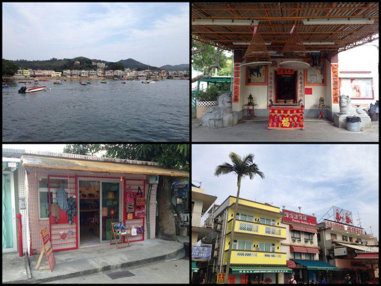 Hong Kong Sehenswürdigkeiten: Häuser, Tempel und Geschäfte auf Lamma Island