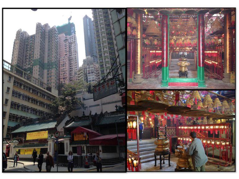 Hong Kong Sehenswürdigkeiten: Man Mo Tempel vor Hochhauskulisse