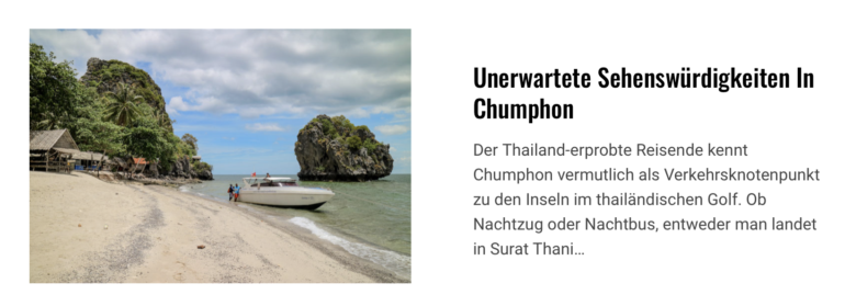 Chumphon Artikel Coverfoto