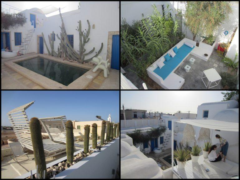 Tunesien: Pool und Sitzecken im Hotel Dar Bibine
