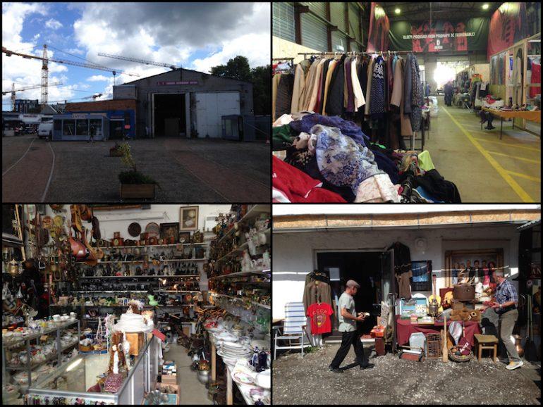 Baltikum: Balti Jaam Markt von außen sowie Klamotten und Artikel