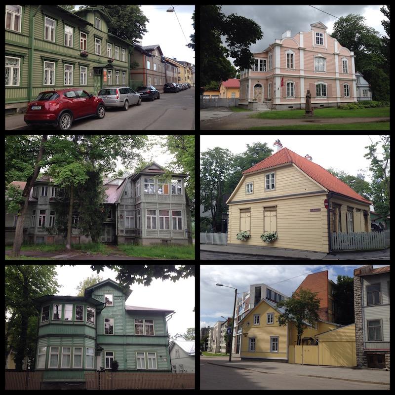 Baltikum: Verschiedene Holzhäuser in Tallinn