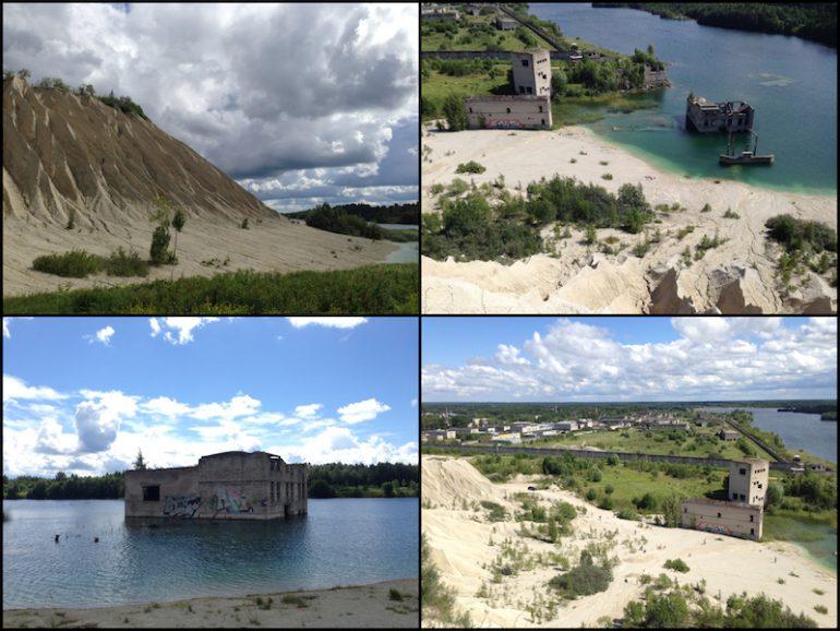 Baltikum: Gebäude, Wasser und Dünen am Lake Rummu