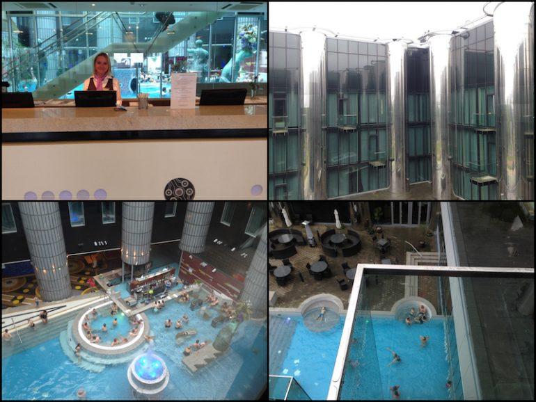 Baltikum: Rezeption, Gebäude und Spa des Tallink Spa & Conference Hotel Tallinn