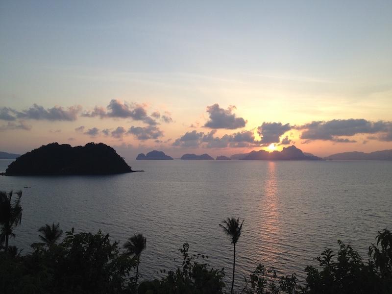 Road Trip Philippinen: Sonnenuntergang in El Nido