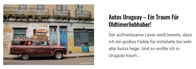 Oldtimer uruguay autos