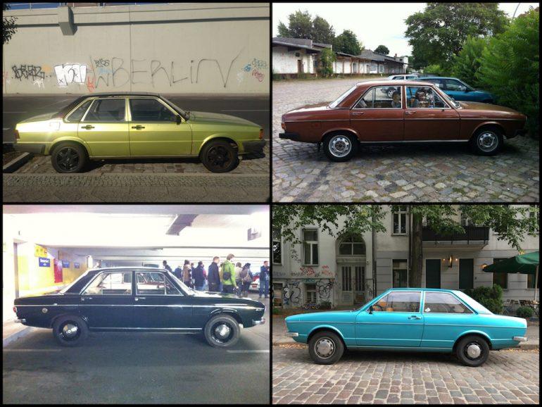 Oldtimer Berlin: Audi 80 in verschiedenen Farben