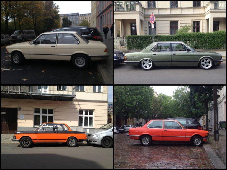Oldtimer Berlin: BMW in unterschiedlichen Farben