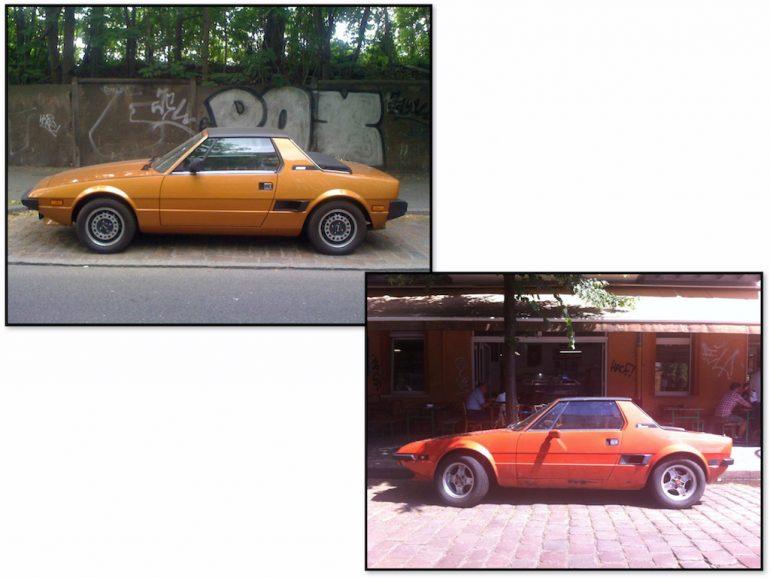Oldtimer Berlin: Bertone X1/9 in unterschiedlichen Farben