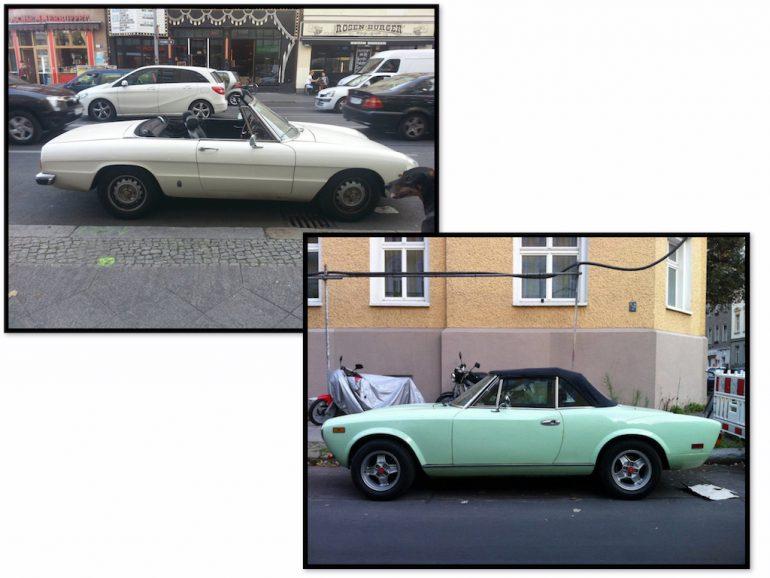 Oldtimer Berlin: Fiat in unterschiedlichen Farben