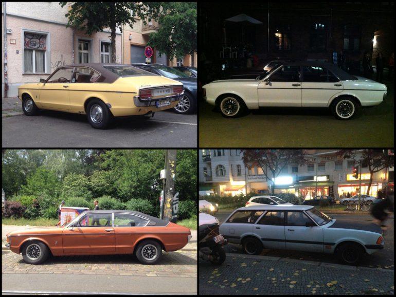 Oldtimer Berlin: Ford Granada in unterschiedlichen Farben