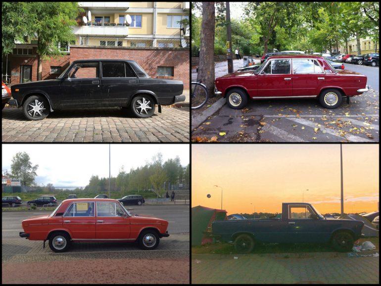 Oldtimer Berlin: Lada in unterschiedlichen Farben und Formen