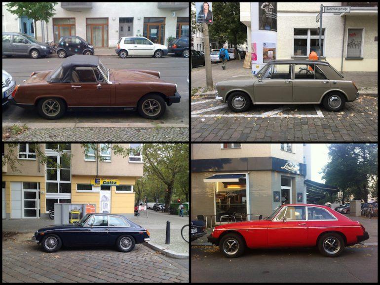 Oldtimer Berlin: MG in verschiedenen Farben und Formen