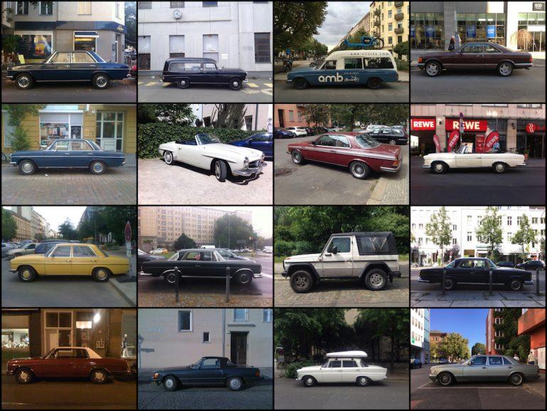 Oldtimer Berlin: Mercedes-Fahrzeuge in vielen Formen und Faben