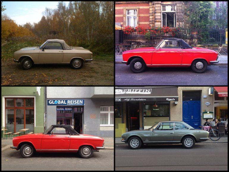 Oldtimer Berlin: Peugeot in unterschiedlichen Farben und Ausführungen