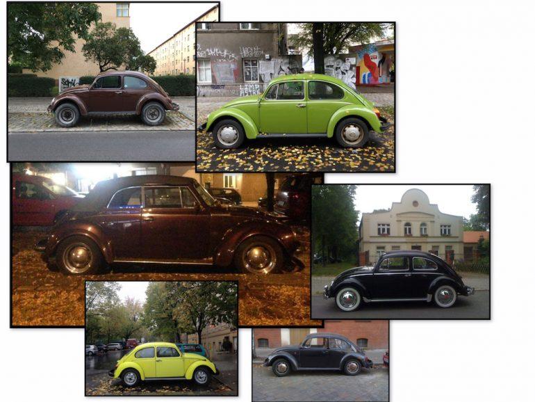 Oldtimer Berlin: VW Käfer in unterschiedlichen Farben