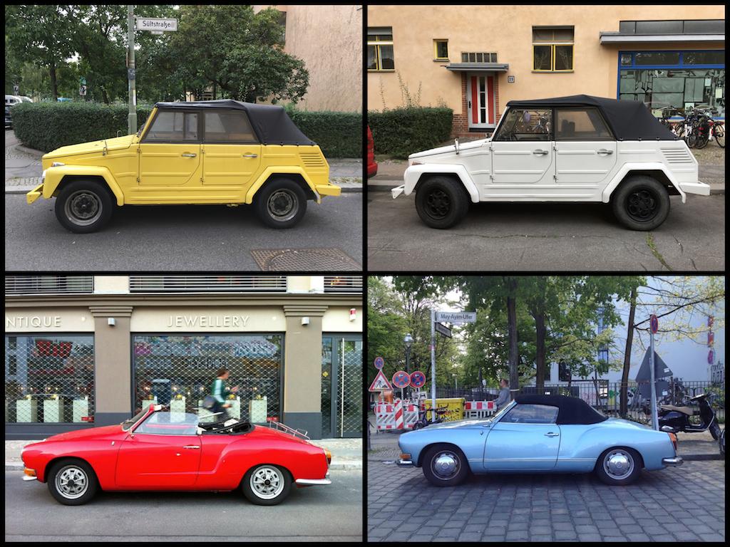 Oldtimer Berlin: VW Karmann Ghia und Kübelwagen