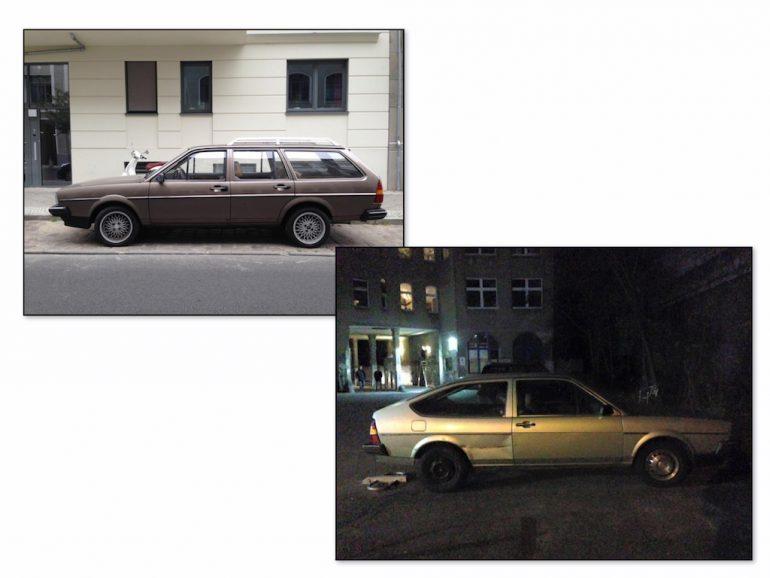 Oldtimer Berlin: VW Passat in braun und silber