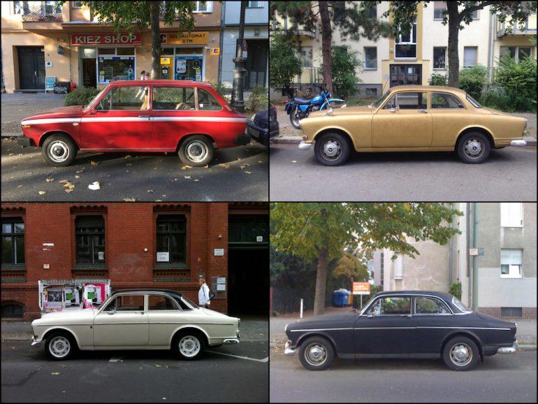 Oldtimer Berlin: Volvo in verschiedenen Farben und Formen