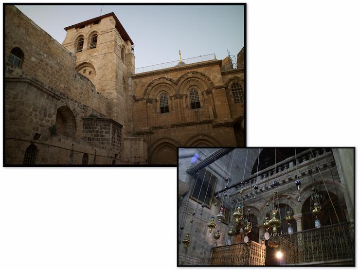 Grabeskirche Jerusalem von außen und innen
